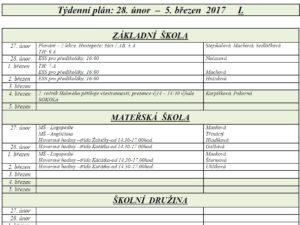 09 Tydenni plan