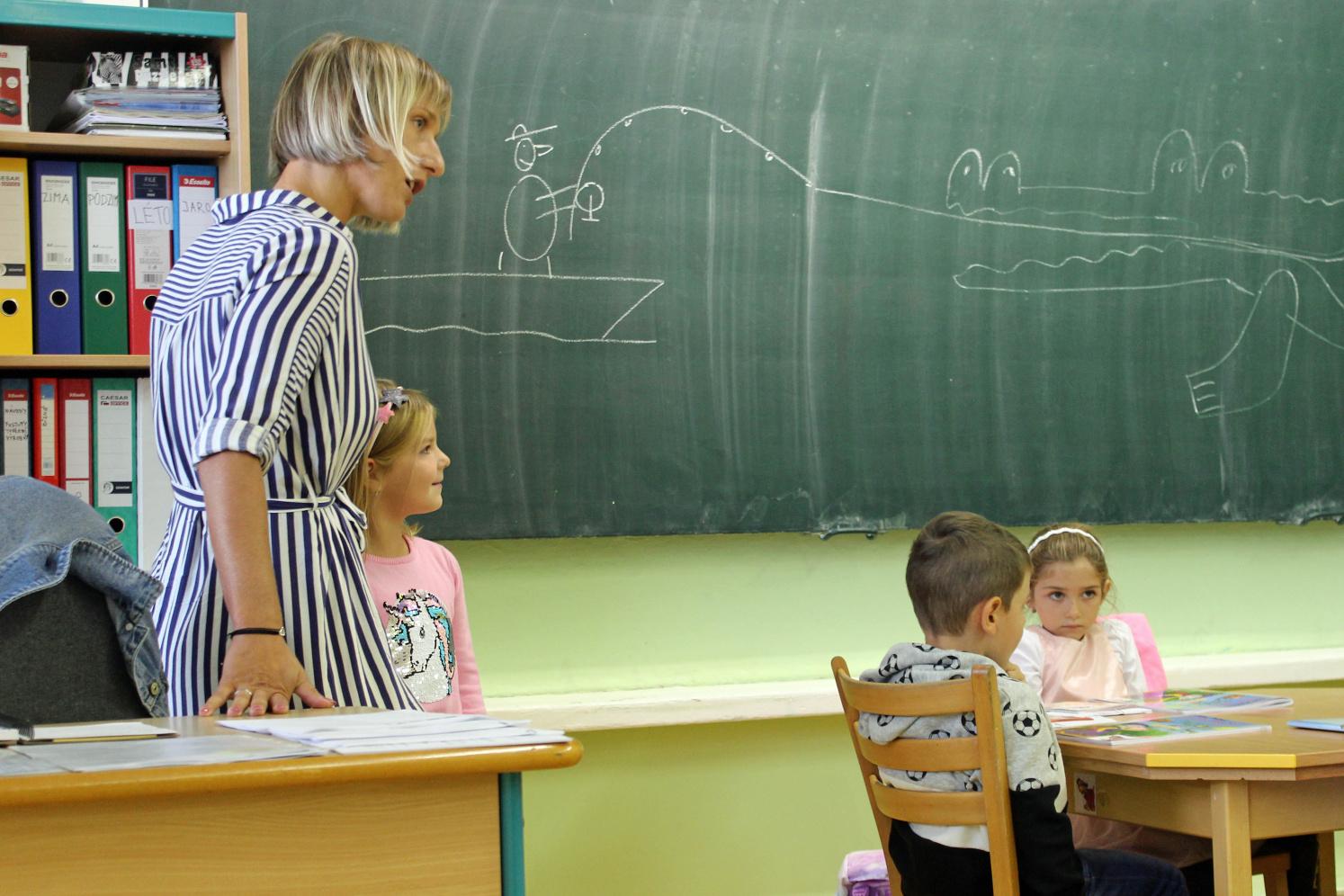Paní učitelka v přípravné třídě