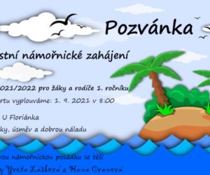 Pozvánka pro děti a rodiče 1. ročníku na zahájení školního roku 2021/2022